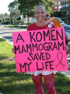 komen mammogram saved my life