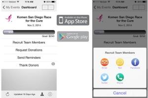Fundraising app walk 5k breast cancer san diego