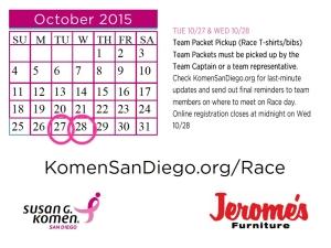 Susan G Komen San Diego Past Events