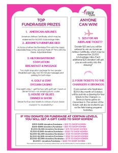 Top fundraising prizes2