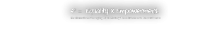 Equality X Empowerment