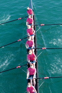 Participants in boat