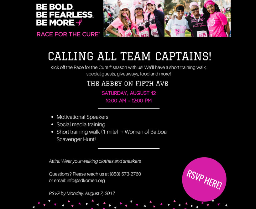2017 Race for the Cure® Team Captain Kickoff