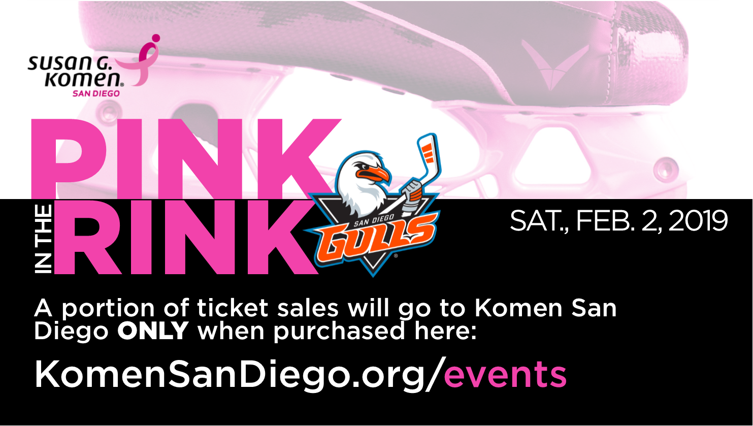 San Diego Gulls 4th Annual Pink in the Rink benefiting Komen San Diego