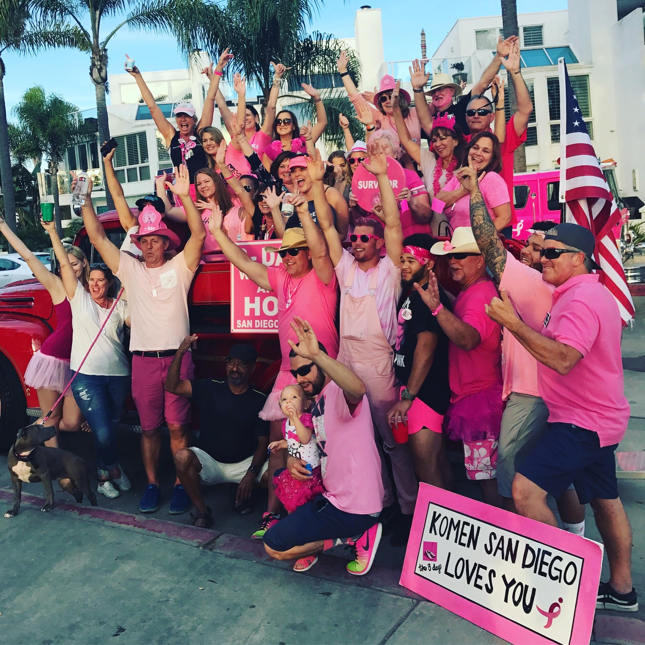 Susan G. Komen San Diego's 3-Day Cheer Station