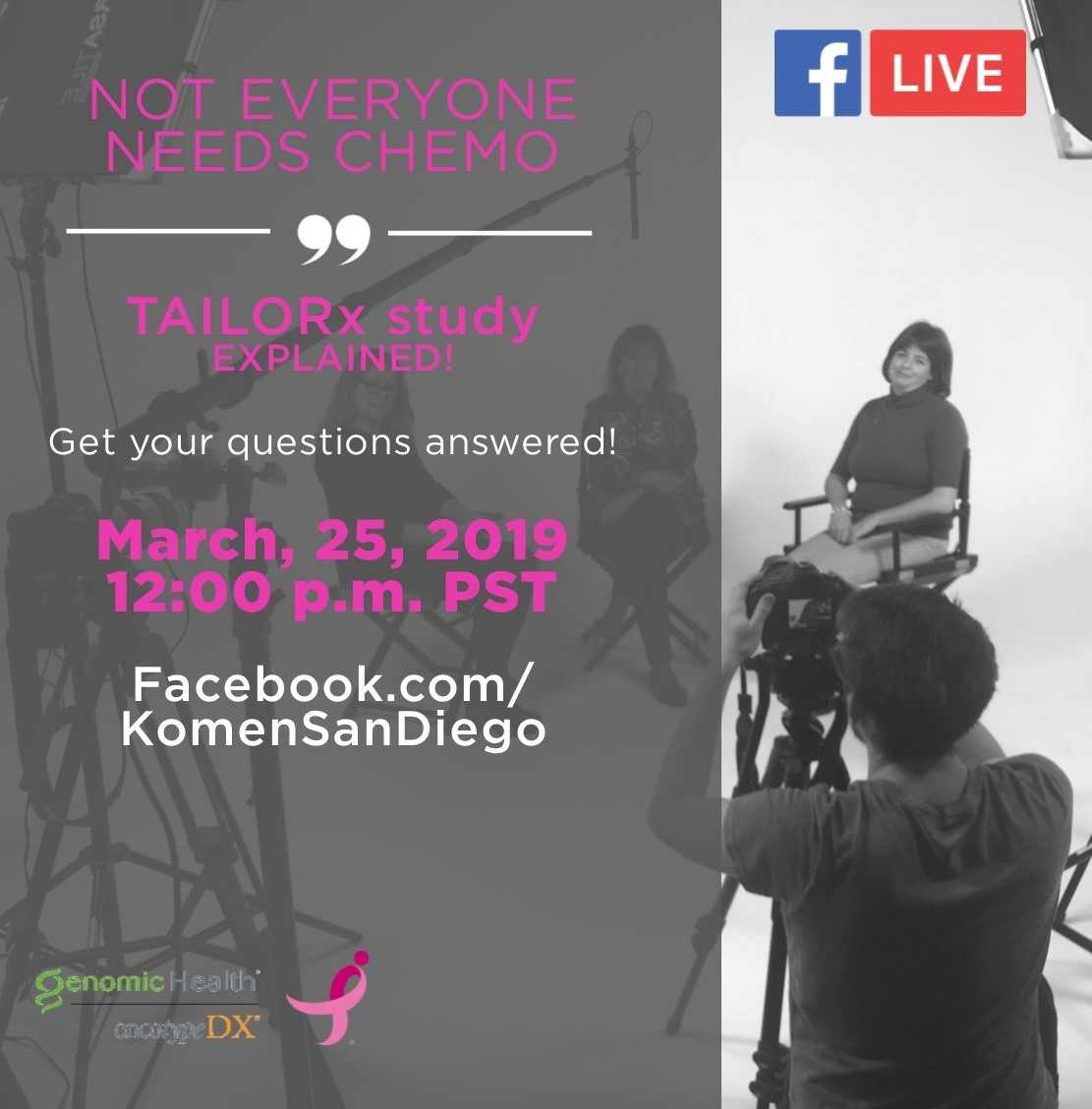 Not everyone needs chemo–TAILORx study EXPLAINED – Facebook Live