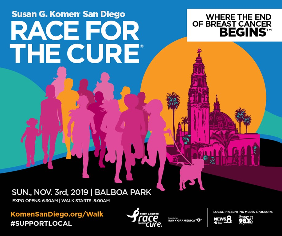 Komen San Diego's Race for the Cure 2019